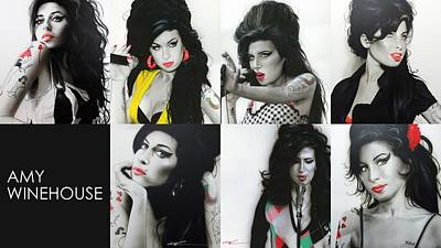Amy Winehouse - ' Amy Eternal ' Poster by Christian Chapman Art