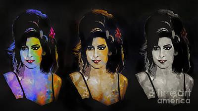 Amy Jade Winehouse Poster by Andrzej Szczerski