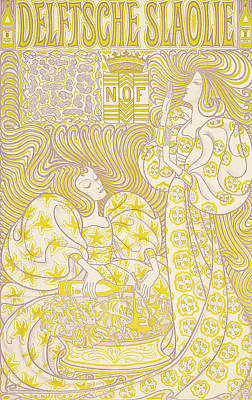 An Advertising Poster For Delft Salad Oil Poster by Jan Theodore Toorop