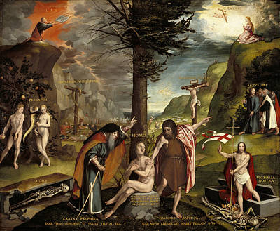 An Allegory Of The Old And New Testaments Poster by Hans Holbein the Younger