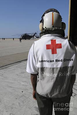 An American Red Cross Volunteer Waits Poster by Stocktrek Images