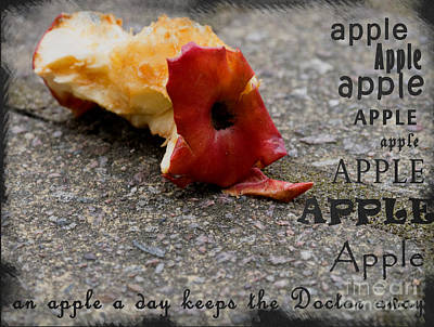An Apple A Day Keeps The Doctor Away Poster by Gillian Singleton