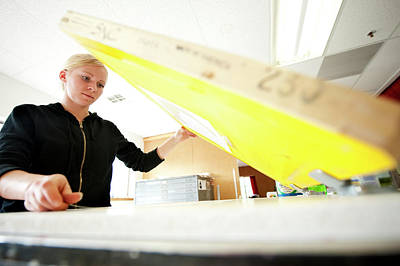 An Art Student Makes Silk Screen Prints Poster