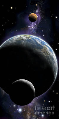 An Artists Depiction Of An Earth Type Poster by Marc Ward