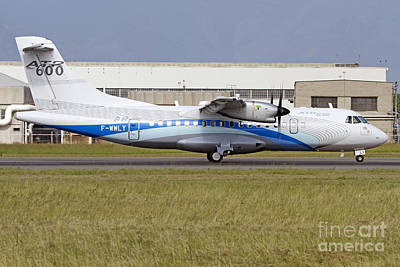 An Atr 42-600 Airliner At Turin Poster