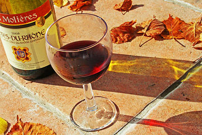 An Autumn Glass Of Red Poster by Georgia Fowler