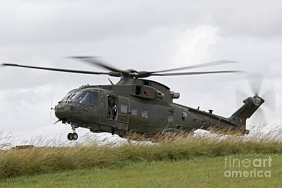 An Aw101 Merlin Helicopter Of The Royal Poster by Ofer Zidon