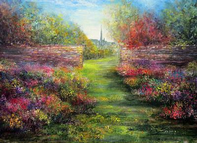 An English Garden Poster by Ann Marie Bone