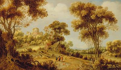 An Extensive Wooded Landscape Poster by Gillis Claesz d' Hondecoeter