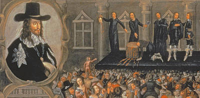 An Eyewitness Representation Of The Execution Of King Charles I In 1649 Oil On Canvas Detail Poster