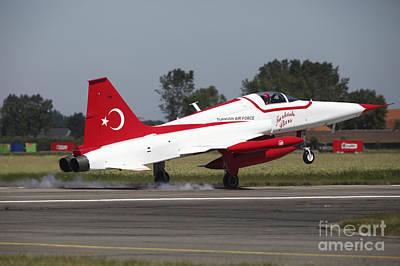An F-5 Jet Of The Turkish Stars Poster by Timm Ziegenthaler