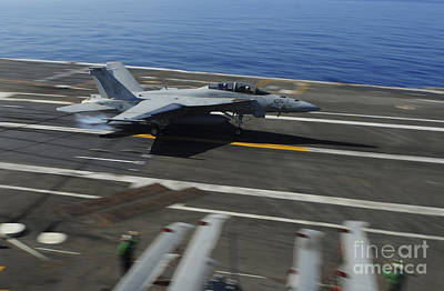 An Fa-18f Super Hornet Makes An Poster by Stocktrek Images