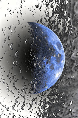Half Blue Moon Phase Poster