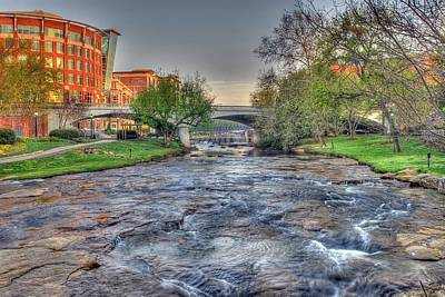 An Hdr Image Of The Reedy River In Downtown Greenville Sc  Poster