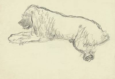 An Illustration Of A Dog Poster by Carl Oscar August Erickson
