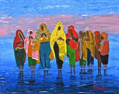 An Indian Water Prayer Ritual Poster