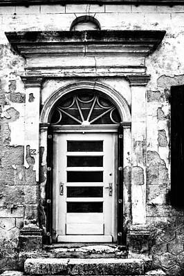 An Intriguing Door In Black And White Poster