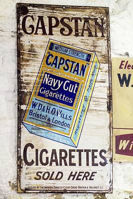 An Old Advert For Capstan Cigarettes Poster by Ashley Cooper