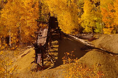 An Old Colorado Mine In Autumn Poster by Jeff Swan