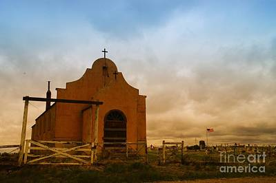 An Old Mission In Northeastern Montana Poster