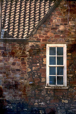 An Old Stony Wall With White Window Poster by Jaroslaw Blaminsky