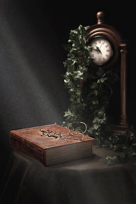 An Old Tome Still Life Poster