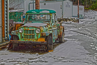 Poster featuring the photograph An Old Truck by Timothy Latta