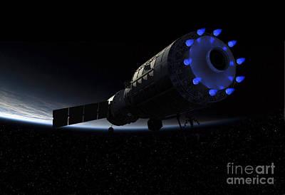An Orbital Maintenance Platform Fires Poster
