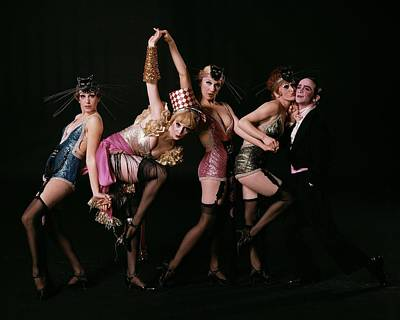An Outtake Of Joel Grey With The Kit Kat Girls Poster by Bert Stern