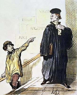 An Unsatisfied Client, From The Series Les Gens De Justice, C.1846 Colour Litho Poster by Honore Daumier