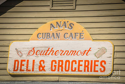 Ana's Cuban Cafe Key West - Hdr Style Poster by Ian Monk