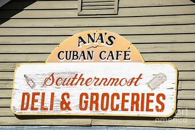 Ana's Cuban Cafe Key West Poster