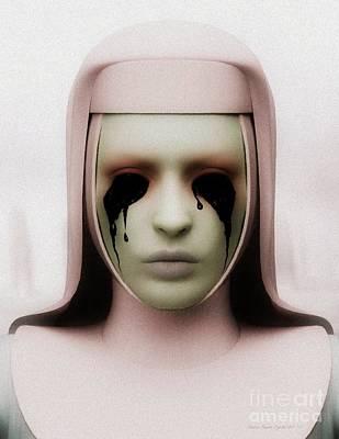Poster featuring the digital art Anathema by Sandra Bauser Digital Art