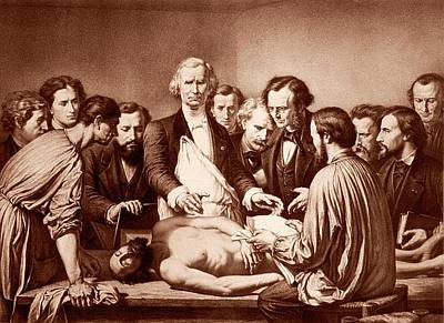 Anatomy Lesson By Velpeau Poster by National Library Of Medicine