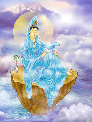 Poster featuring the photograph Anavatapta Kuan Yin by Lanjee Chee