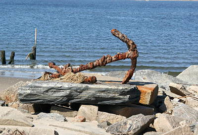 Poster featuring the photograph Anchor by Karen Silvestri