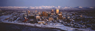 Anchorage At The Base Of Chugach Mtns Poster