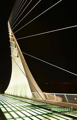 Anchored Sail - The Unique And Beautiful Sundial Bridge In Redding California. Poster