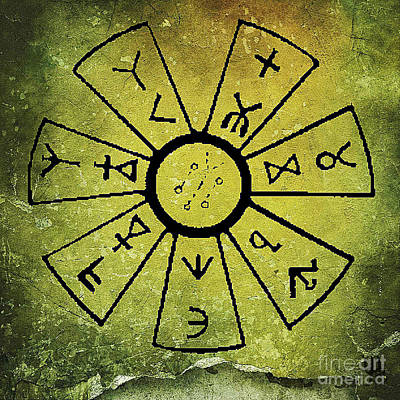 Ancient Astrology Poster