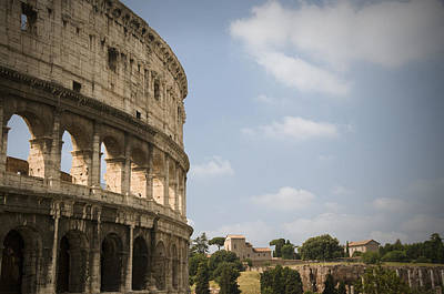 Poster featuring the photograph Ancient Colosseum by Jeremy Voisey