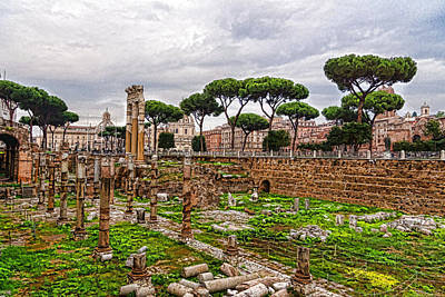 Ancient Forum Ruins - Impressions Of Rome Poster