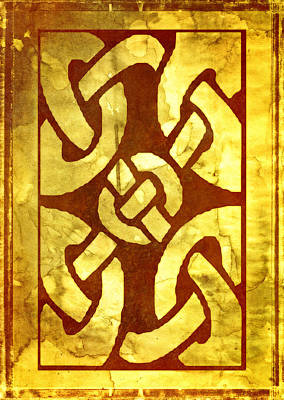 Ancient Ornamental Celtic Design Poster by Georgiana Romanovna