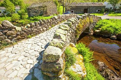 Ancient Packhorse Bridge Poster by Ashley Cooper