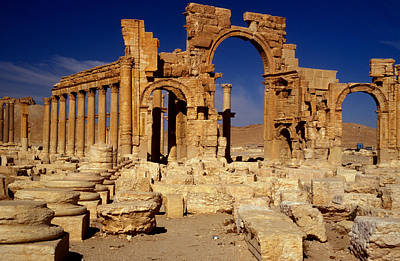 Ancient Roman City Of Palmyra, Syria Photo Poster by .