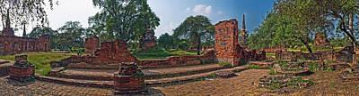 Ancient Ruins Of Ayutthaya Historical Poster