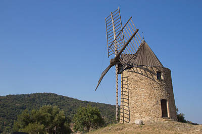 Ancient Stone Windmill Poster