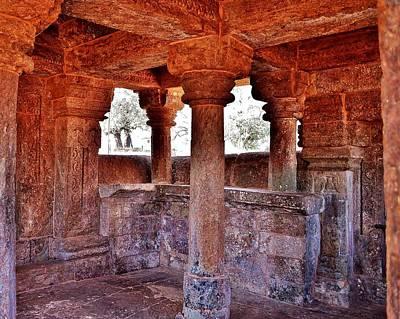 Ancient Stone Temple At Amarkantak India Poster by Kim Bemis