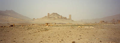 Ancient Tombs On A Landscape, Palmyra Poster by Panoramic Images