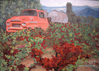 Ancient Truck Poster by Donna Schaffer