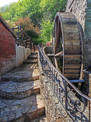 Ancient Watermill - Le Moulin De Lecq Poster